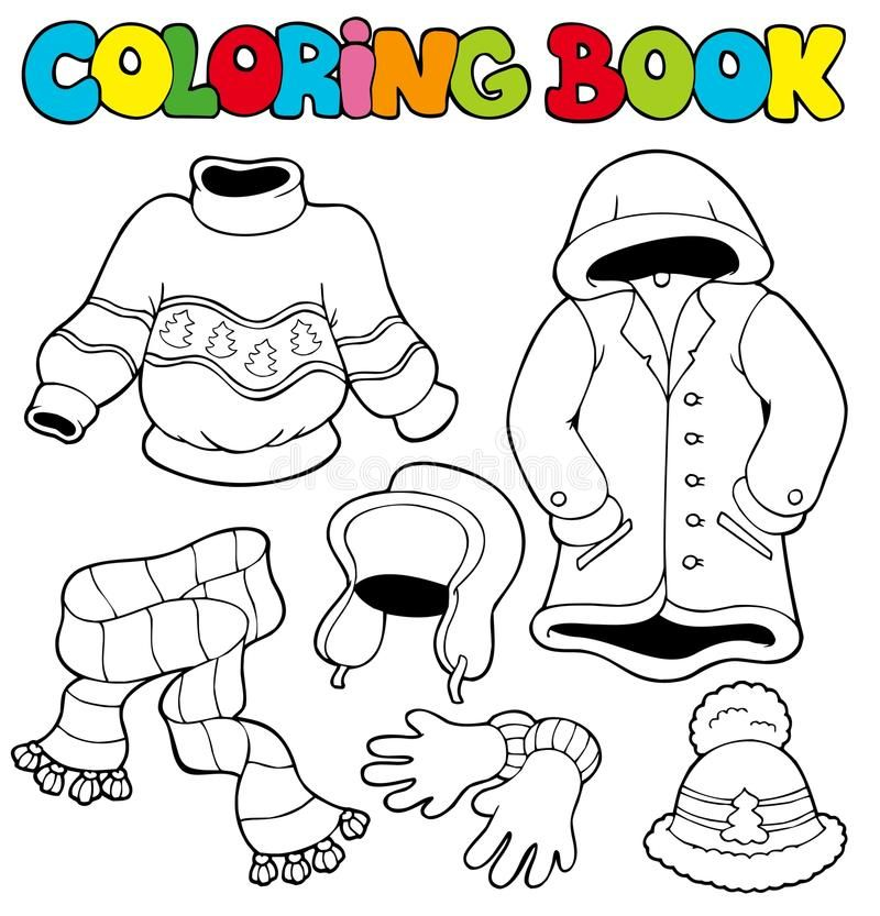 cfffbd9c516fa526dab3c562be24f566 » Winter Clothes Coloring Pages