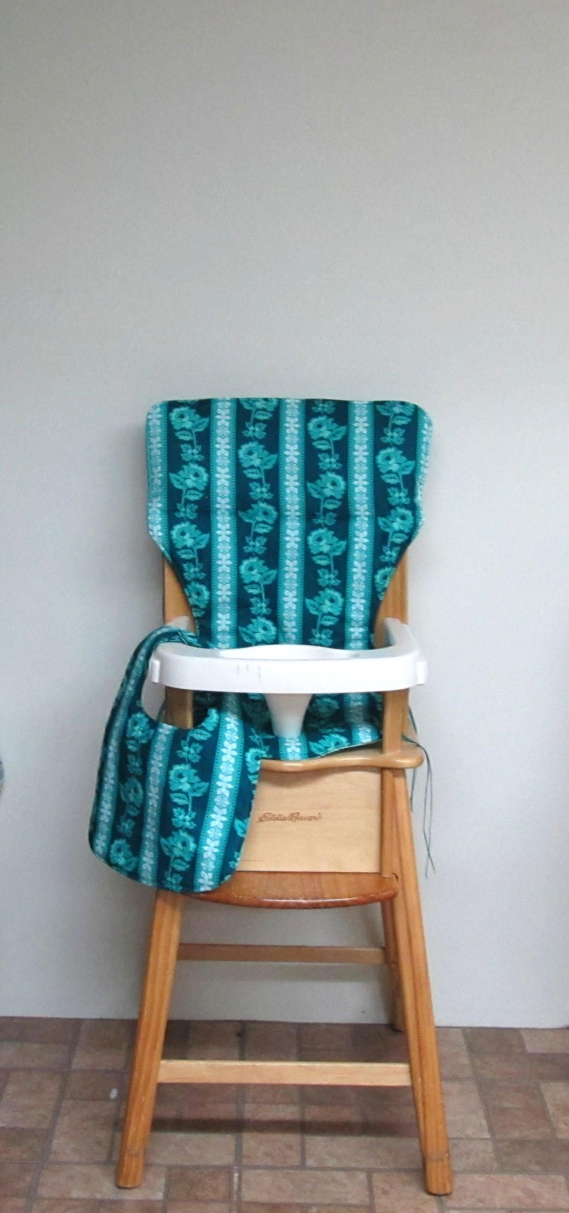 ed bauer wooden high chair pad replacement chair cover feeding
