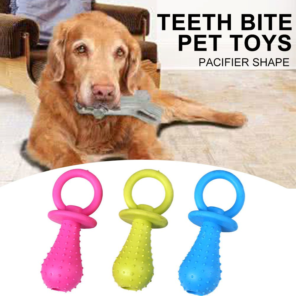 Pet Toy Cat Kitten Puppy Molar Chewing Rubber Pacifier Shape Teeth