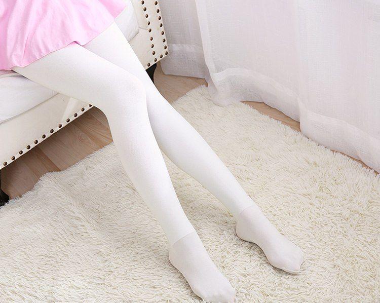 9692d314ce63f Ladies Winter Thick Velvet Dance Stockings KIds Kids Heat Ballet Tights  Seamless Pantyhose White Black Grey Dance Leggings