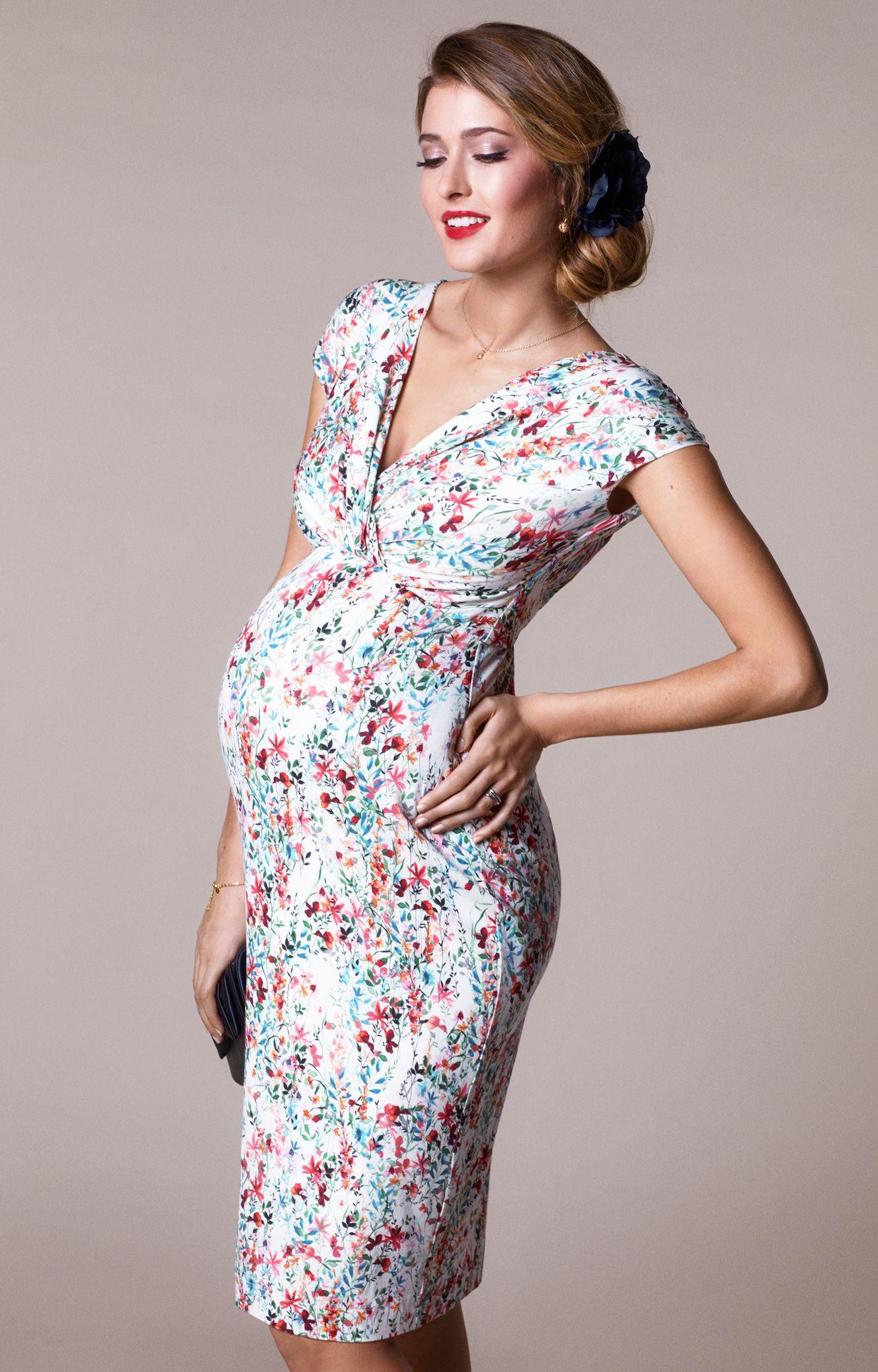 Amelia Lace Maternity Dress Short Windsor Blue by Tiffany Rose
