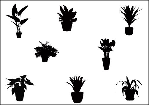 Potted Plants Silhouette Vector Clip Art Silhouette Clip Art Silhouette Vector Clip Art