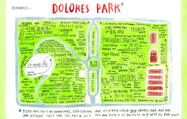 Map of Dolores Park, in  - ciso resume