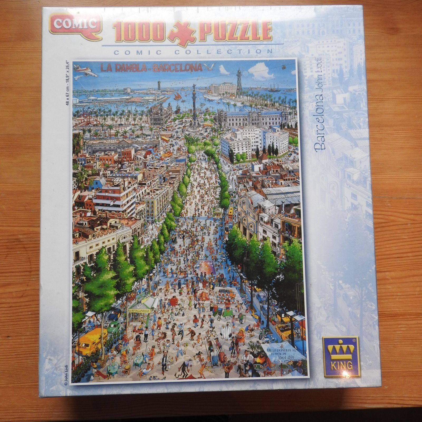 comic collection jigsaw puzzle barcelona 1000 piece sealed for