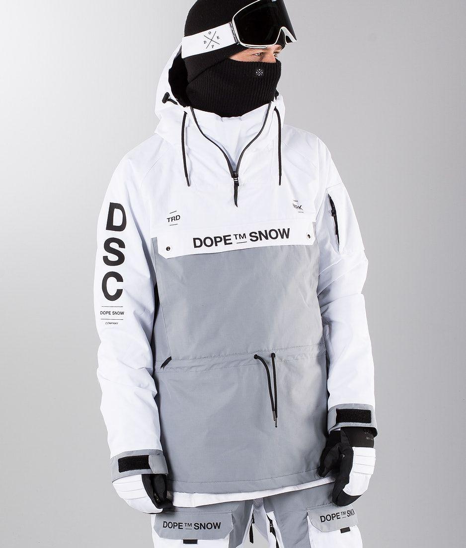 b1d8a4172f4 Dope Annok DSC Snowboard jas White  Lt. Grey