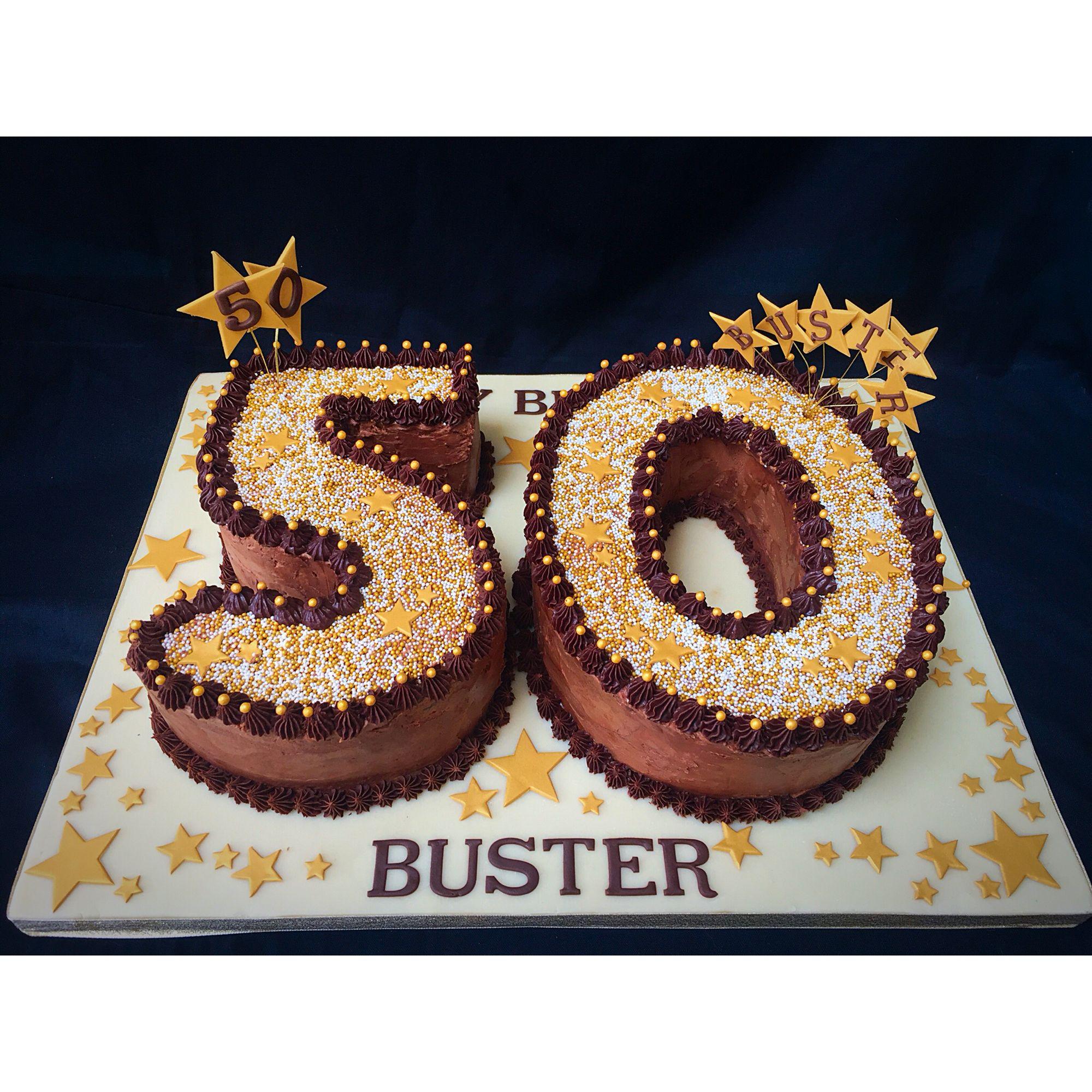 50th birthday cake Chocolate fudge cake with chocolate