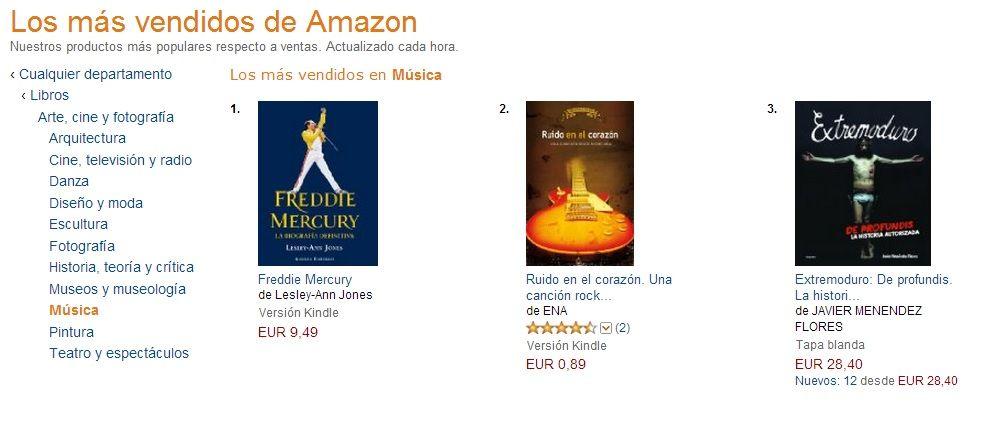 En el Top 10 de Amazon, Kindle, Música, en malas compañías ;-) http://ow.ly/mbXvG