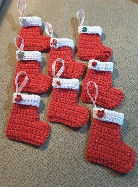 23 Ideas Crochet Christmas Stocking Beginner #crochet ...