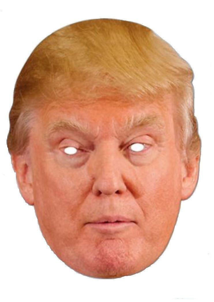 photo about Donald Trump Mask Printable called Donald Trump Mask Halloween President Applicant Poster Paper
