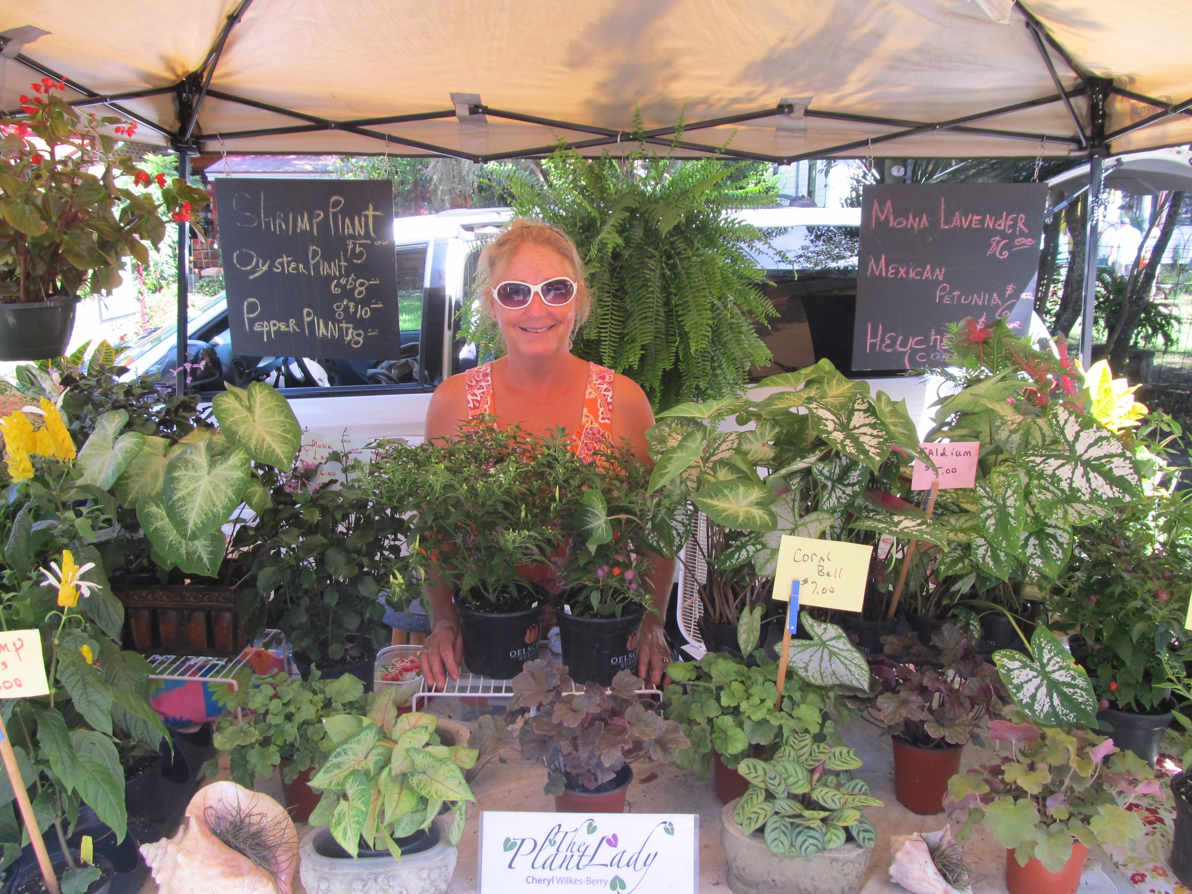 The Plant Lady; Owner Cheryl WilkesBerry; From Bluffton