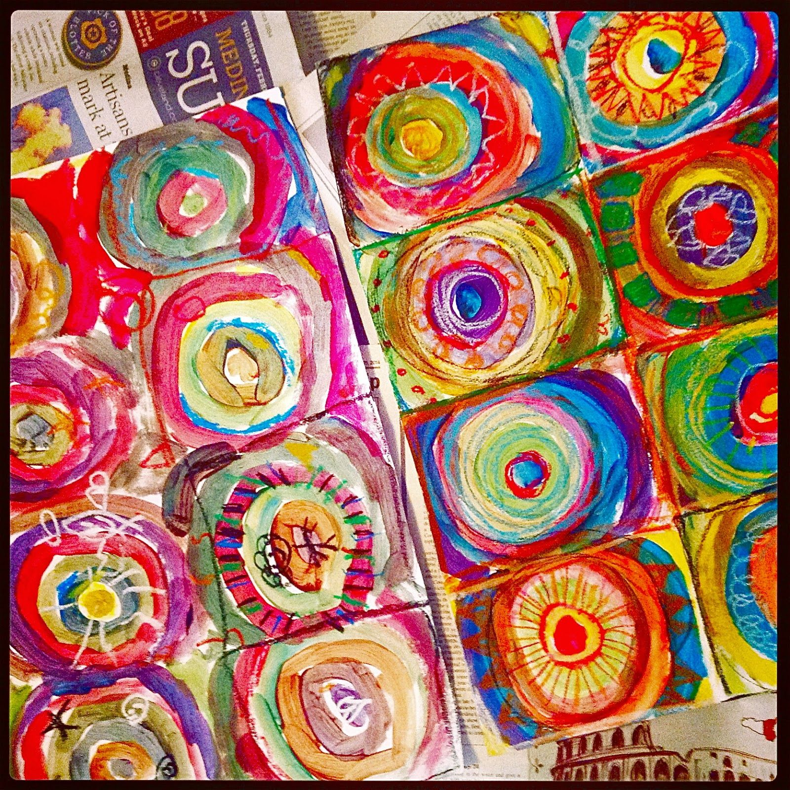 How to Make an Abstract Kandinsky Painting | Kindergarten ...