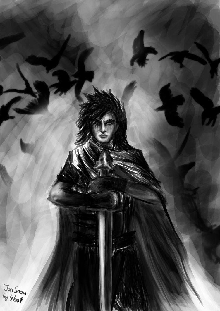 Jon Snow By 4kat On Deviantart Com Imagens