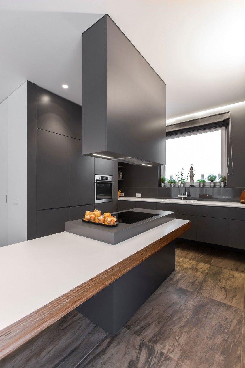 A Minimalist Interior In Vilnius Kitchen Interior Interior Design Kitchen Kitchen Design