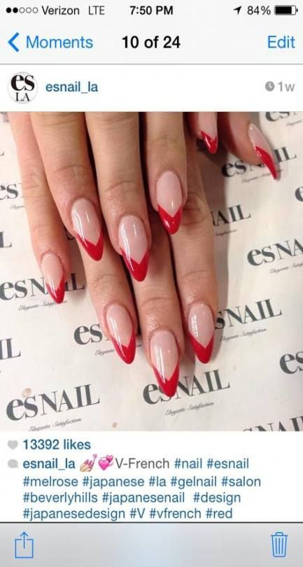 54 New Ideas For Nails French Tip Almond Art Designs 54 New Ideas For Nails French Tip Almond Art Desig French Nails French Nail Designs Gel Nails French