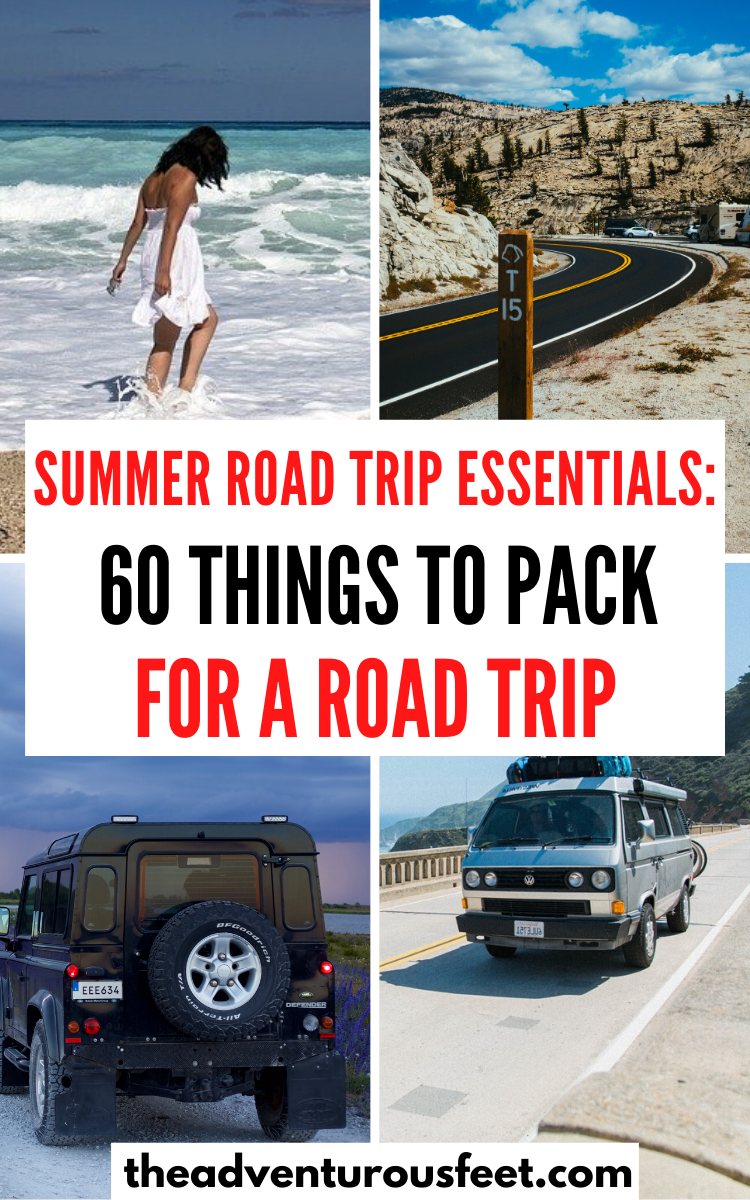 Packing list for a road trip: 60 road trip essentials you ...