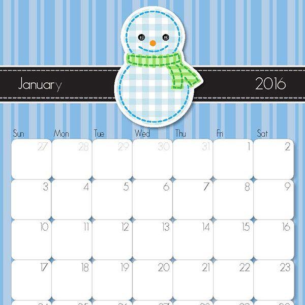Whimsical  Printable Calendar  Free Printable Calendar