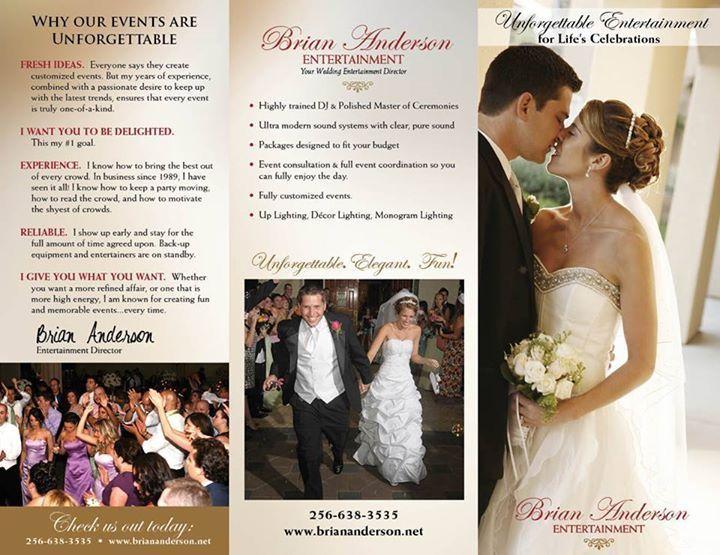 Pin by Brian Anderson on Brian Anderson Wedding DJ Brochure ...