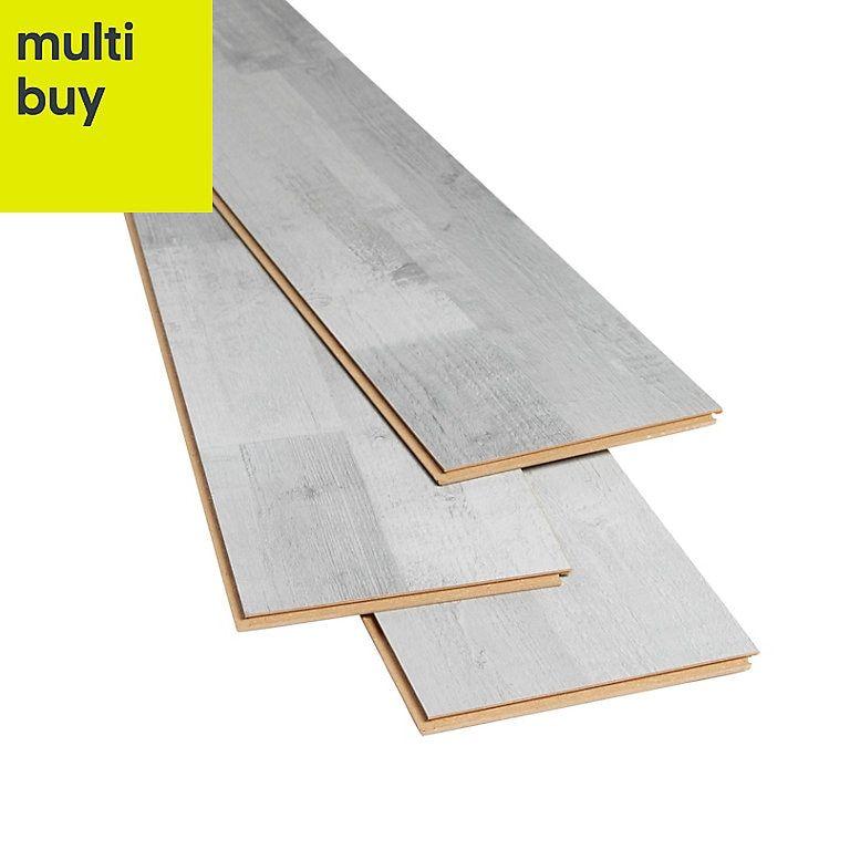 Goodhome Rockhampton Grey Oak Effect Laminate Flooring 2 47m