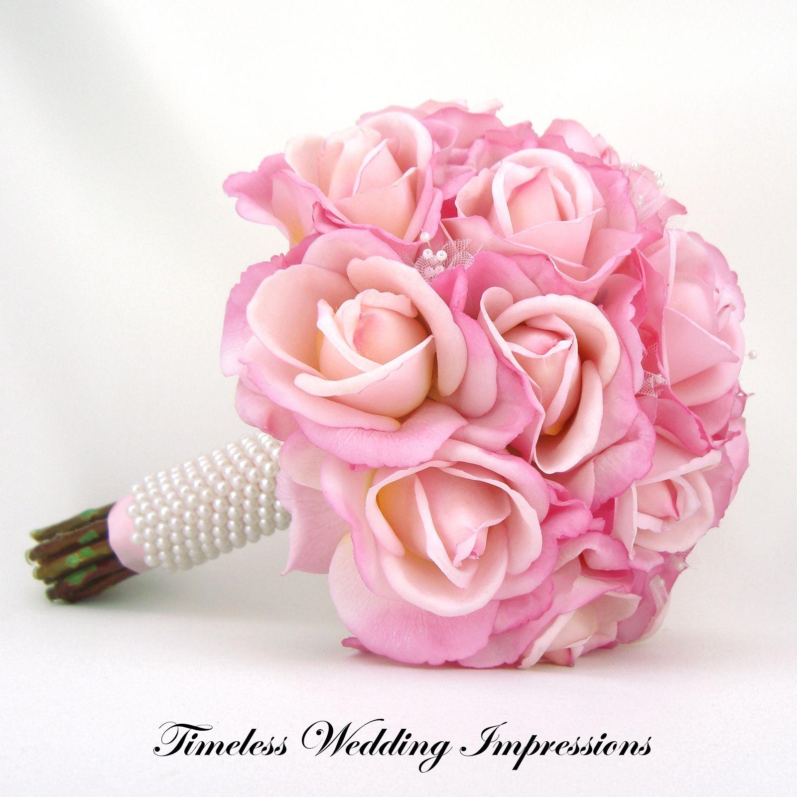images of pink bridesmaids bouquets | Pink Rose Bridal Bouquet ...