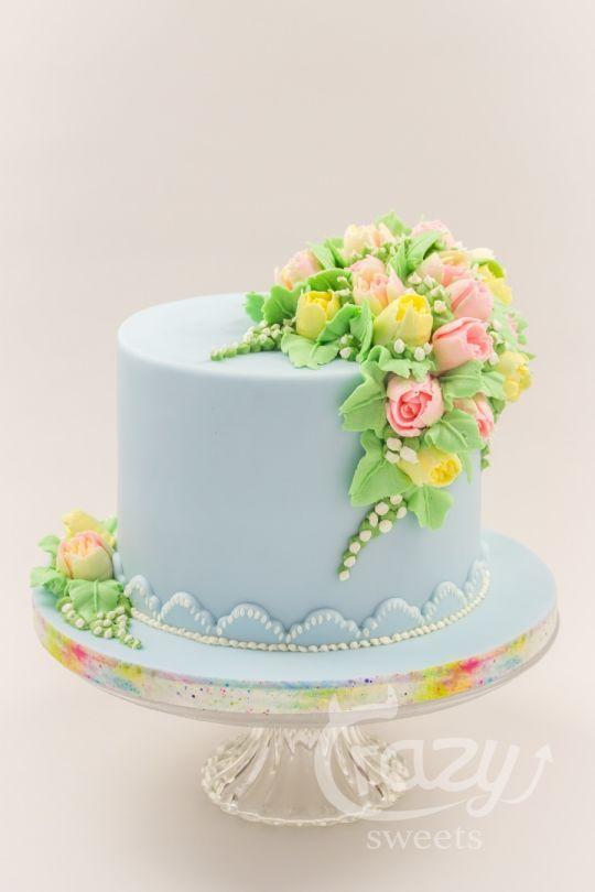 Buttercream Spring Flowers Cake Cake Decorating Spring Cake