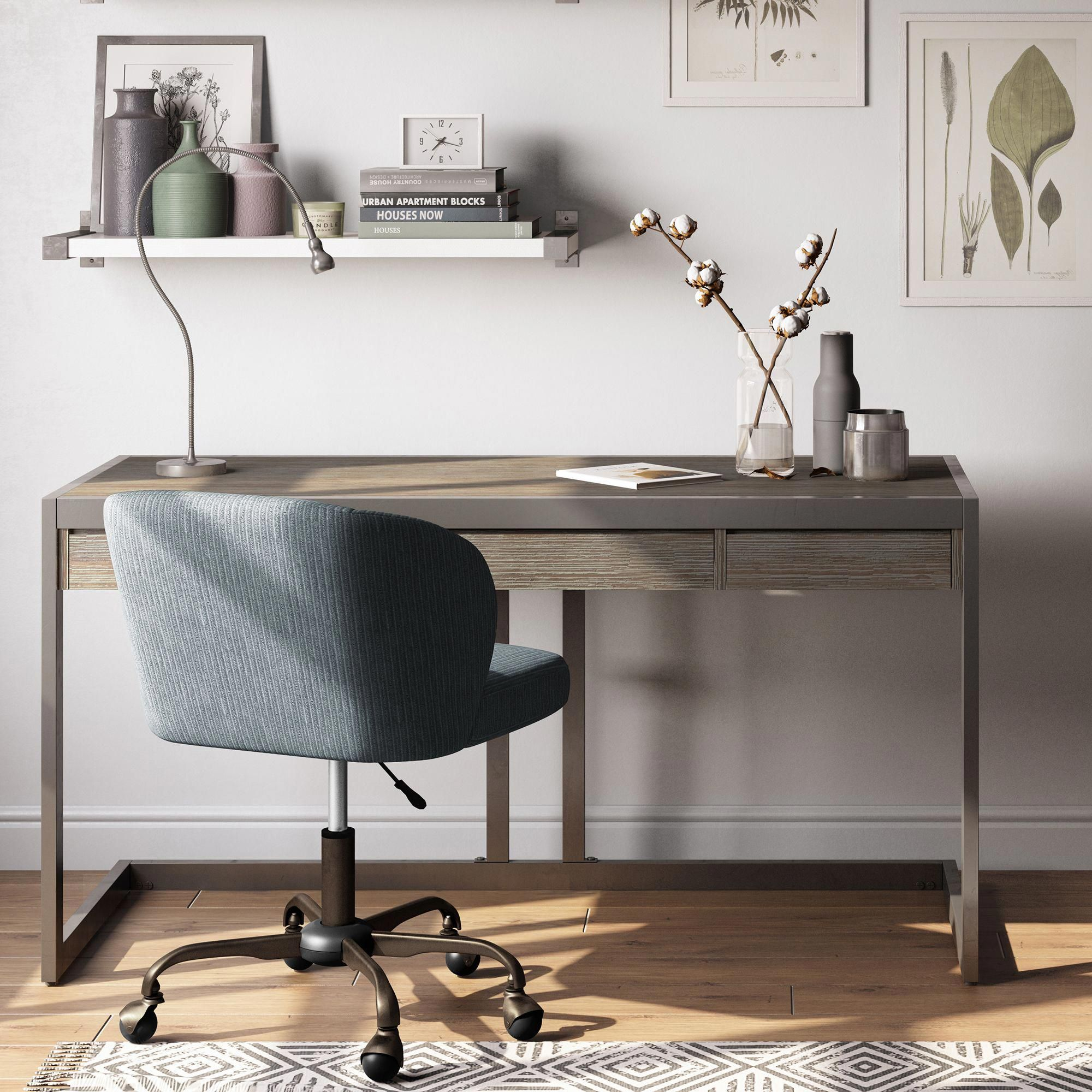 19 Outstanding Computer Desk No Assembly Required Simpli Home Wood And Metal Desk Solid Wood Desk