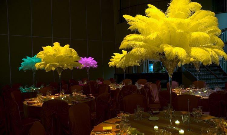 Mardi Gras Wedding Reception decor