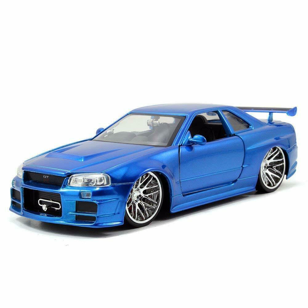 Brian S Nissan Gtr Skyline R34 Blue Fast Furious 1 24 Diecast Car By Jada Ebay Nissan Gtr Skyline Nissan Skyline Skyline Gtr R34