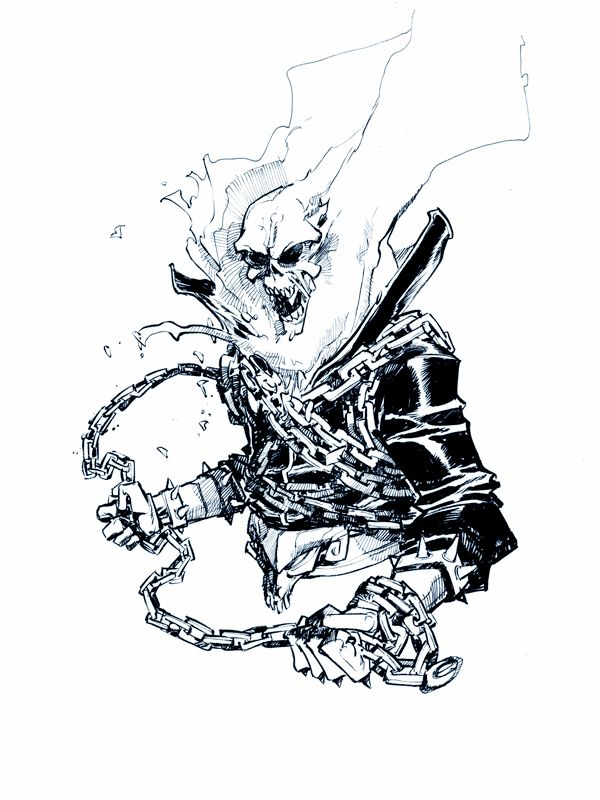 Ghost rider by eric canete cool art kinds of things - Dessin de ghost rider ...