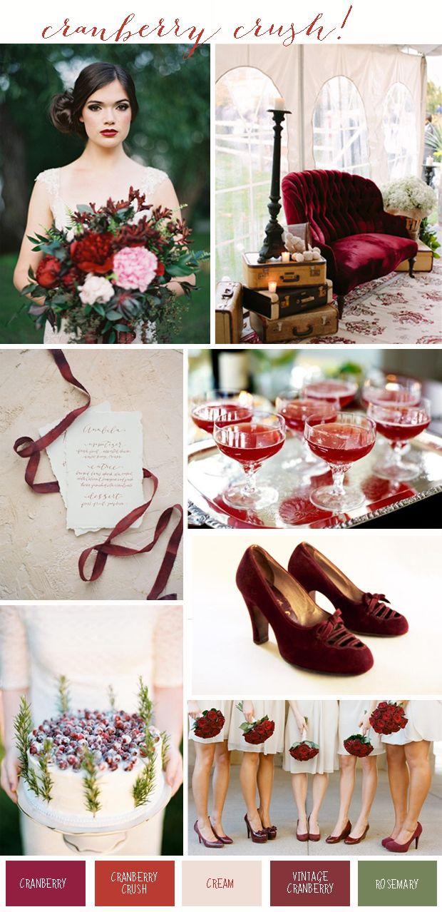 Maroon and cream wedding decor  Cranberry Crush Colour Inspiration Wedding Ideas  Our Princess