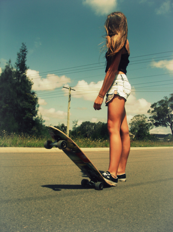 skateboards on Hot girls