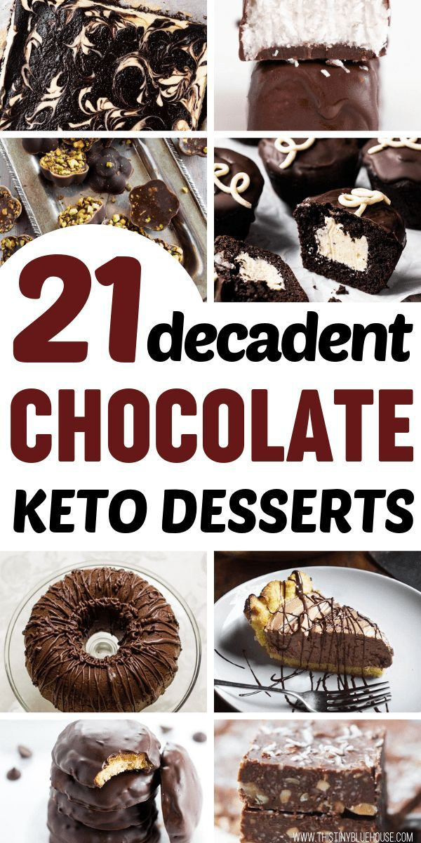 21 Decadent Chocolate Keto Desserts #ketodessert