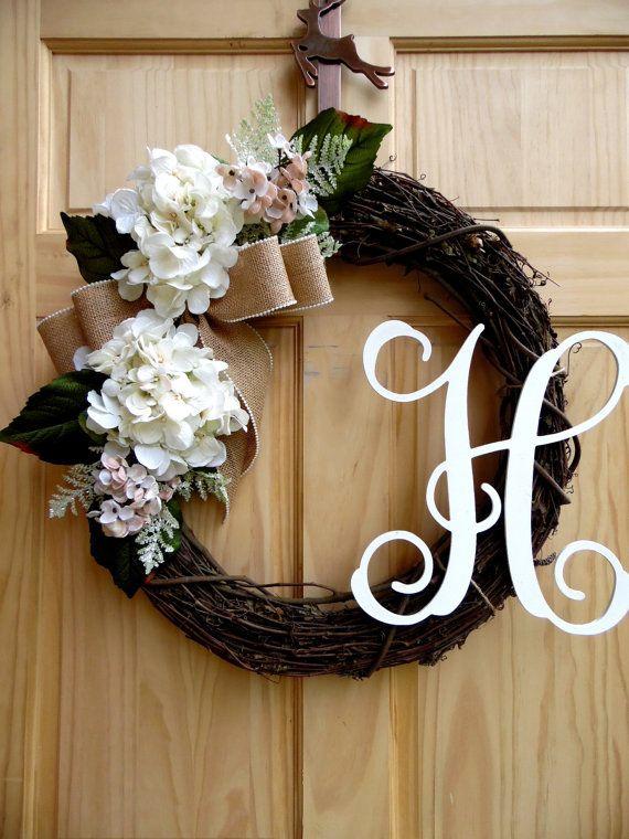 Christmas wreath  Hydrangae Christmas wreath  by Celestialwreaths