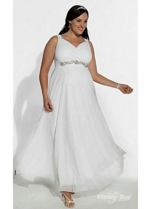 Plus Size Ivory Evening Dress