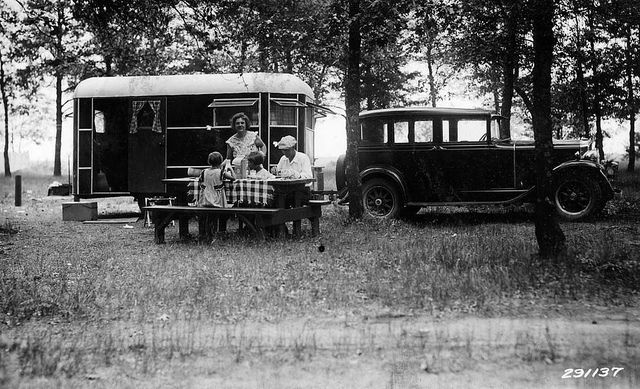 Campers at Rollways Campground