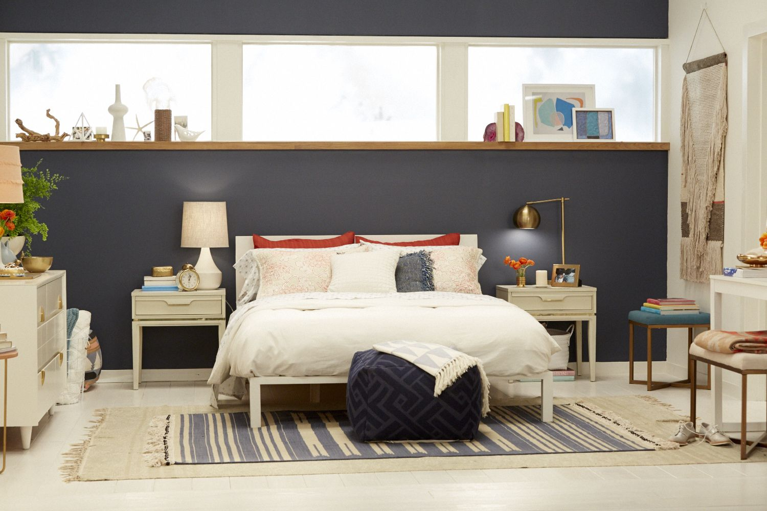 Best Target Chapter 7 Navy Blue Accent Wall Bedroom Makeover 640 x 480