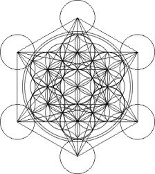 Flower Of Life Superimposed Metatron S Cube Geometry Tattoo Sacred Geometry Tattoo Geometric Mandala Tattoo