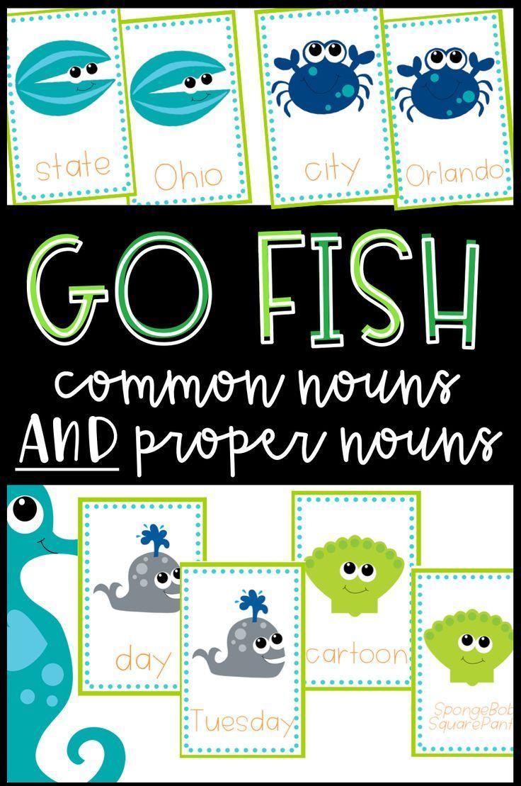 Common Nouns and Proper Nouns 'Go Fish' game Common