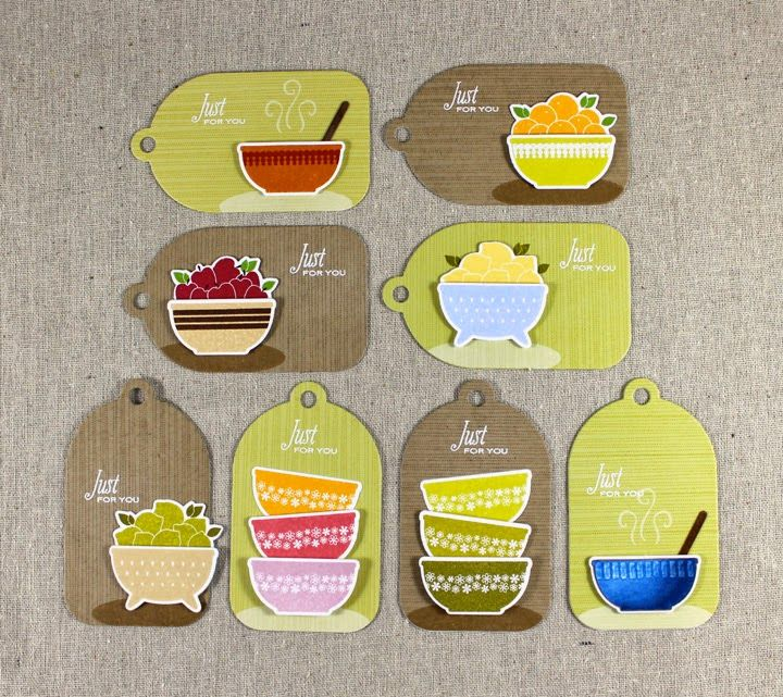 Embellished Kitchen Tags by Lizzie Jones for Papertrey Ink (June 2014)