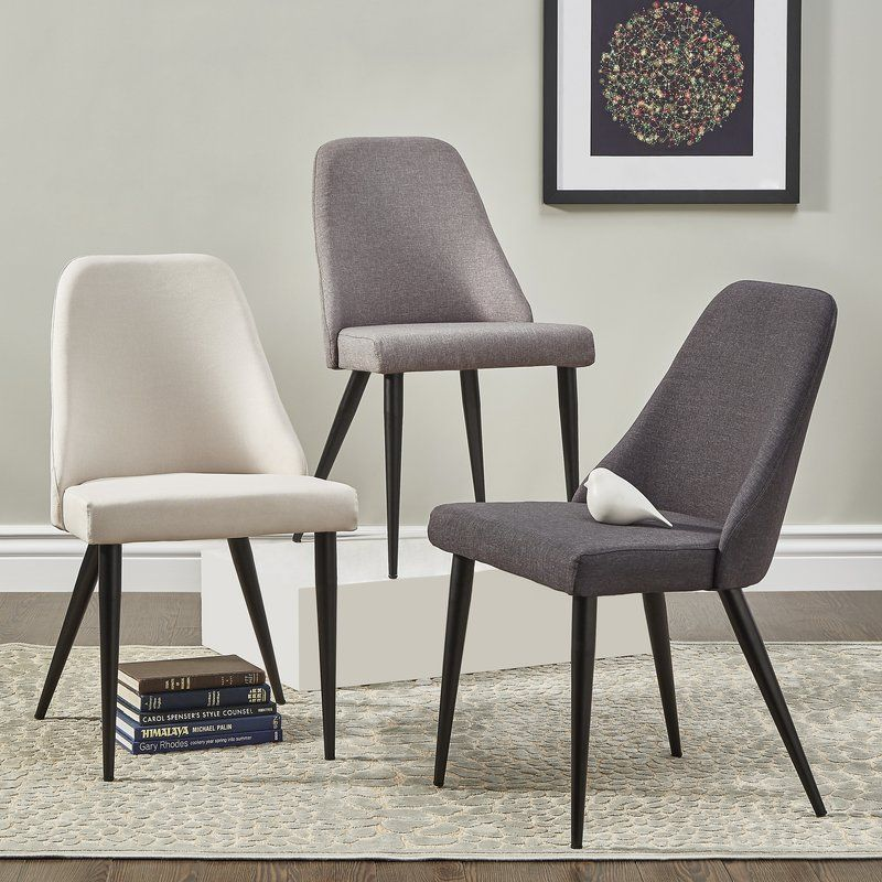 Buttars Parsons Linen Upholstered Side Chair In Black With Images