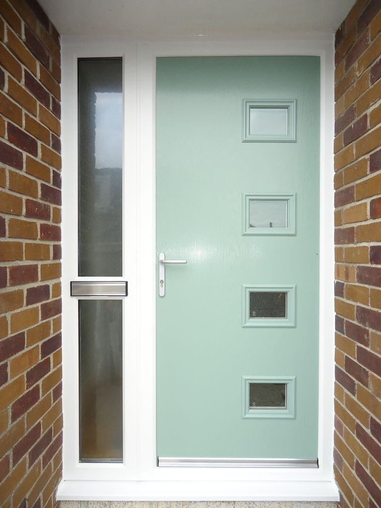 A Contemporary Composite Front Door In Folly Green Installed By
