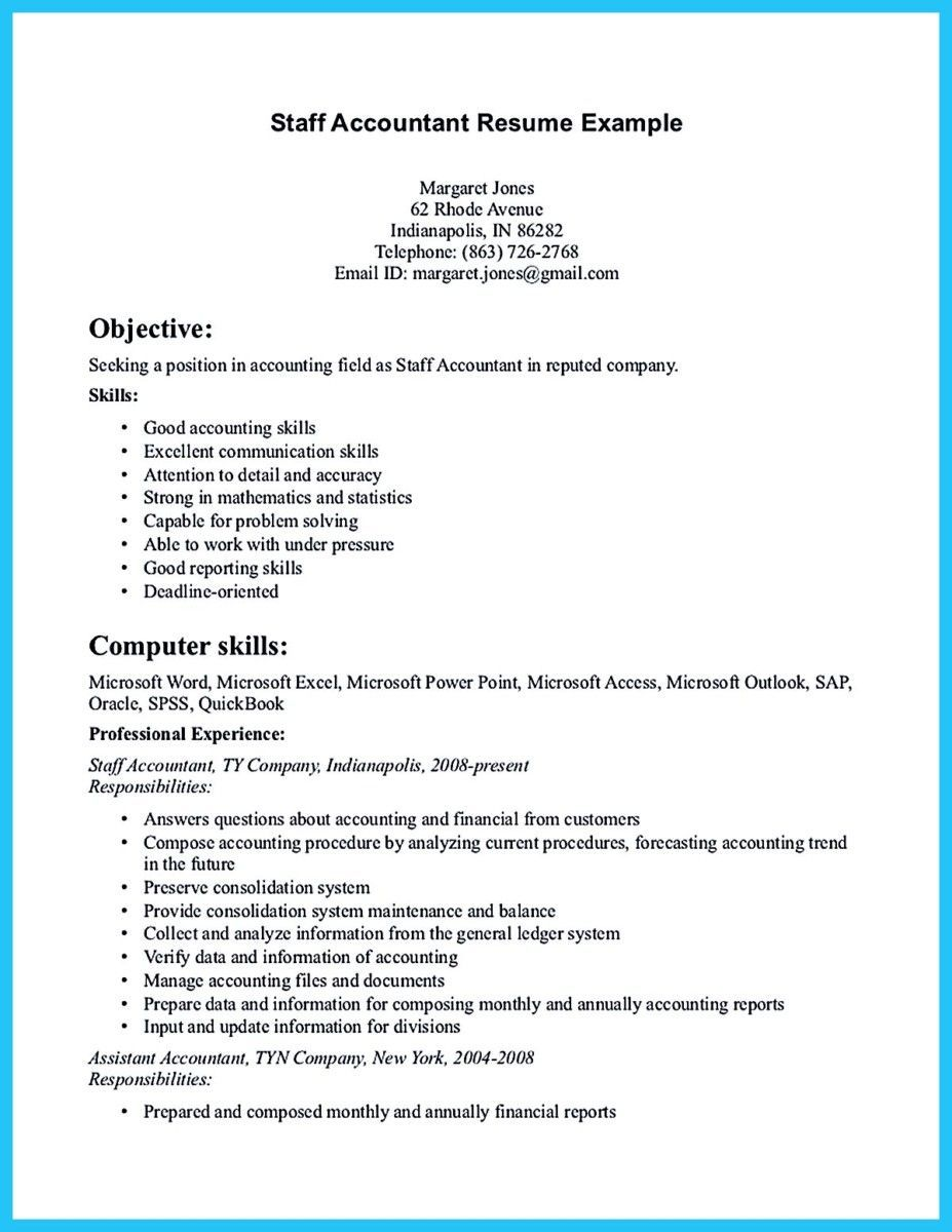 nice Sample for Writing an Accounting Resume, Accountant