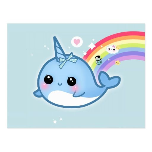 Narwhale Narwhal Rainbow Cute Whale Cetacean Cute Narwhal Kawaii Narwhal Baby Narwhal