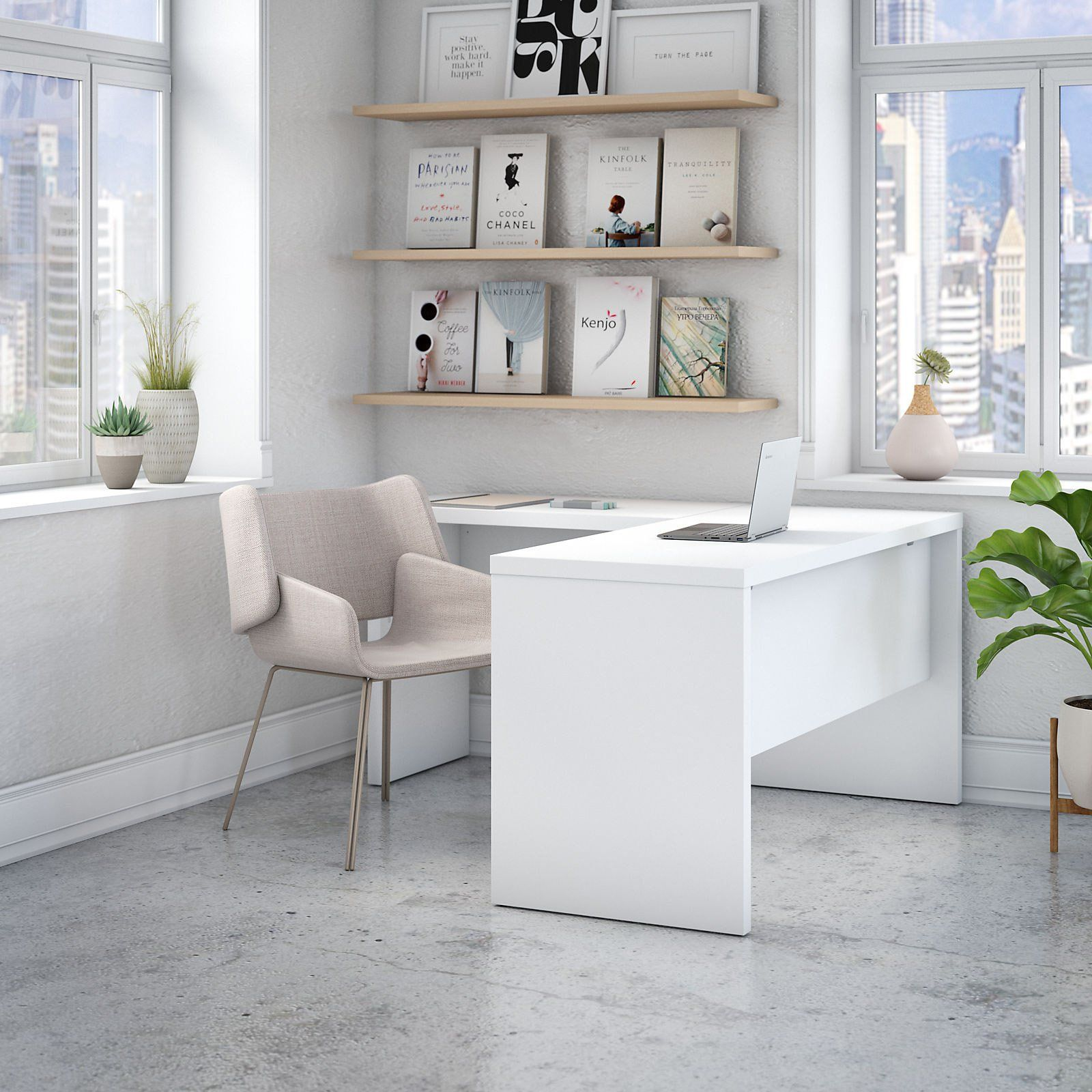 Office By Kathy Ireland Echo L Shaped Desk Home Office Furniture