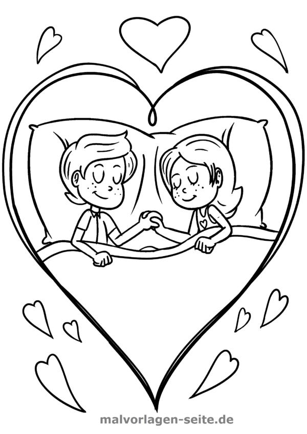 Malvorlage Ich liebe Dich Liebe - Kostenlose