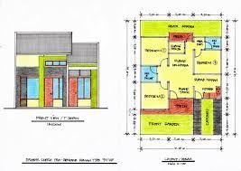 Hasil Gambar Untuk Front View Minimalist House Plan Denah Rumah Rumah Minimalis Rumah