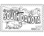Usa Printables State Of South Dakota Coloring Pages South