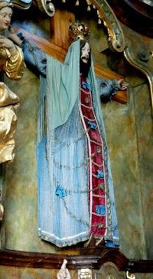 Jesus in Love Blog: Saint Wilgefortis: Bearded woman in the Chapel of Our Lady at the Loretta Sanctuary in Prague