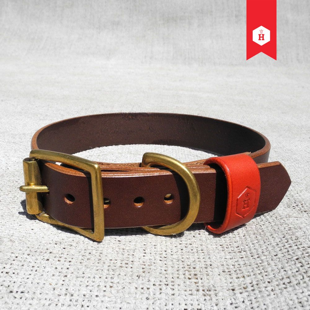 The Houndworthy Monogram Leather Dog Collar Is Crafted In Kent