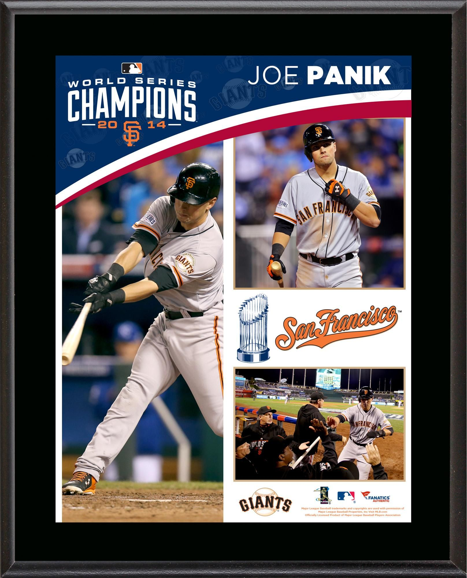 Joe Panik San Francisco Giants 2014 World Series Champions 10 5 X 13 Sublimated Plaque Joe Panik 2014 World Series Sf Giants