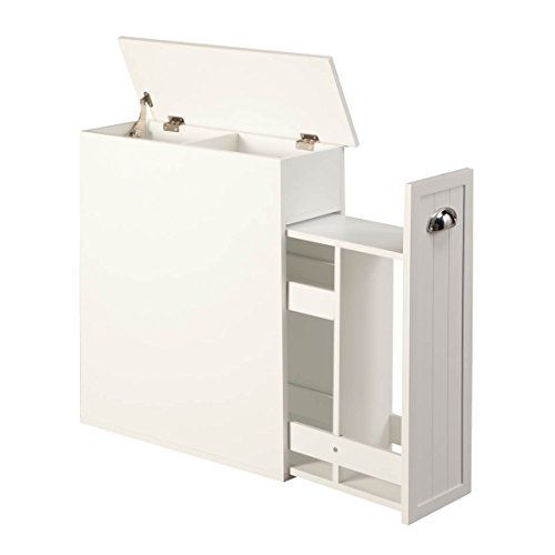 Proman Products Bathroom Floor Cabinet Wood in Pure White | kitchen ...